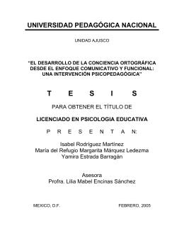 tesis ortografia - Biblioteca Gregorio Torres Quintero Universidad