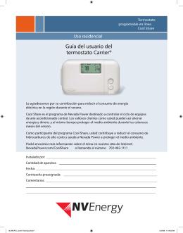 Guía del usuario del termostato Carrier®