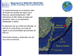 Magnitud 8.3 MAR DE OKHOTSK