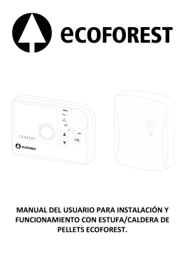 Manual termostato inalámbrico