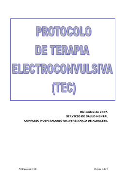 protocolo de terapia electroconvulsiva (tec)