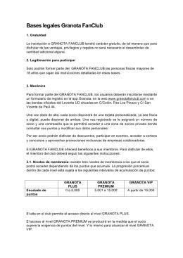 Bases legales Granota FanClub - Granota FanClub