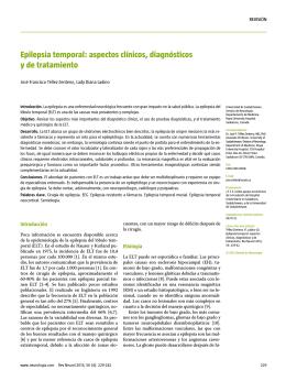 Epilepsia temporal: aspectos clínicos, diagnósticos y de tratamiento