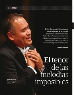El tenor de las melodías imposibles