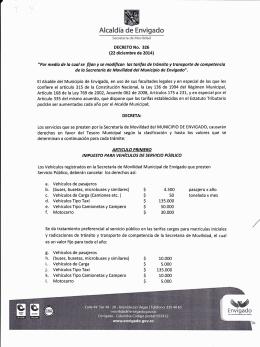 Decreto 326 de 2014