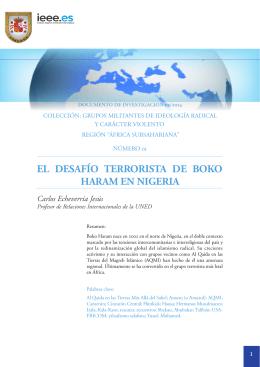 Región Subsahariana. El desafío terrorista de Boko Haram en Nigeria