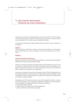 12. Anovulación-disovulación. Síndrome de ovario poliquístico