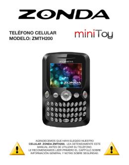TeléfONO celular MODelO: ZMTH200