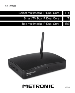 Boîtier multimédia IP Dual Core FR Smart TV Box IP Dual
