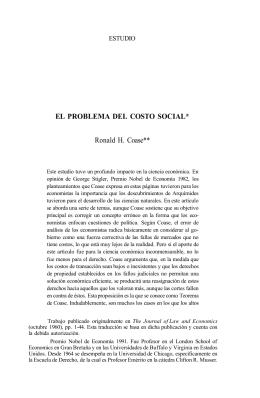 El problema del Costo Social - Centro de Estudios Públicos