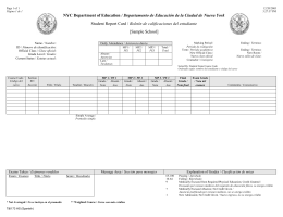 NYC Department of Education / Departamento de Educación de la