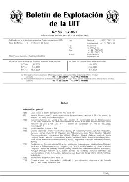 Boletín de Explotación de la UIT No 739
