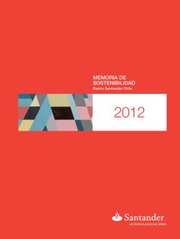 Reporte de Sostenibilidad Banco Santander Chile 2012