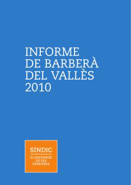 INFORME DE BARBERÀ DEL VALLÈS 2010