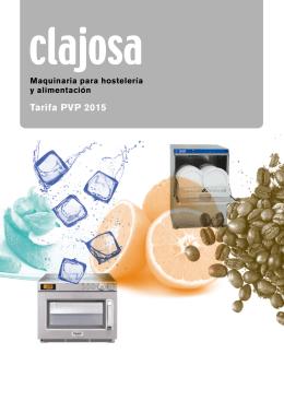 Tarifa PVP 2015