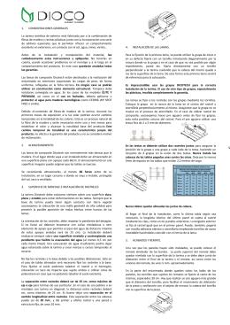 1. CONSIDERACIONES GENERALES La tarima sintética de exterior