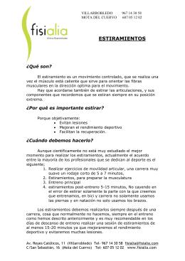 Estiramientos Deportivos .