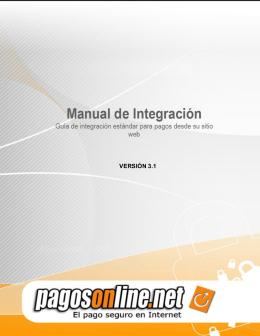 Manual de Integración tradiciona Pagos Online.net