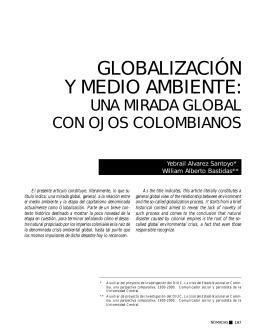 Globalización y medio ambiente: una mirada