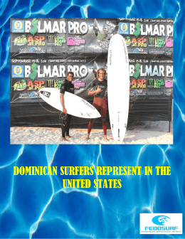 DOMINICAN SURFERS REPRESENT IN THE UNITED STATES