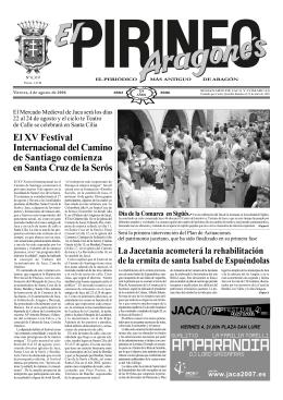 El XV Festival Internacional del Camino de Santiago comienza en
