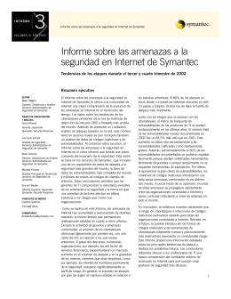 Informe sobre las amenazas a la seguridad en Internet de Symantec