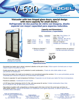 Visicooler with two hinged glass doors, special design with