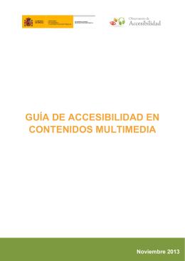Guía de Accesibilidad en Contenidos Multimedia