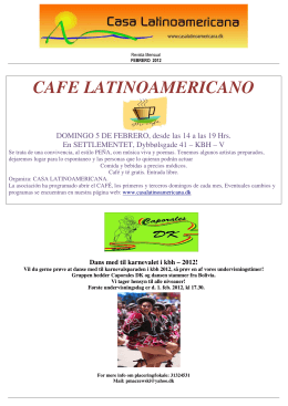 CAFE LATINOAMERICANO - Casa Latinoamericana