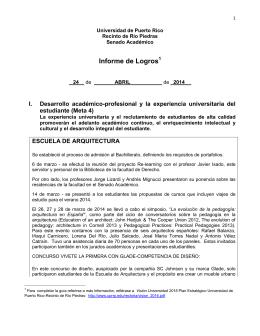 Informe de Logros - Senado Académico