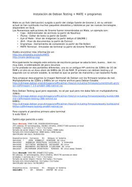 Instalación de Debian Testing + MATE + programas