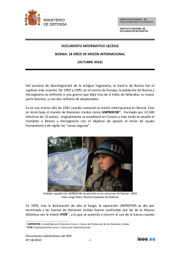 Bosnia, 18 años de mision internacional