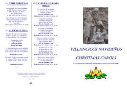 VILLANCICOS NAVIDEÑOS CHRISTMAS CAROLS