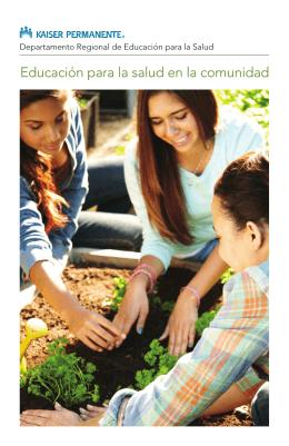 Educación para la salud en la comunidad