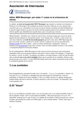 Adiós, MSN Messenger: por estas 11 cosas no te echaremos de