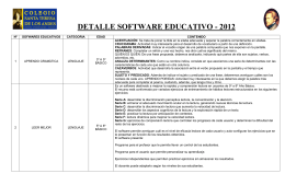 DETALLE SOFTWARE EDUCATIVO