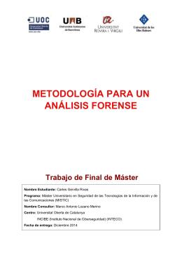 Metodología para un análisis forense