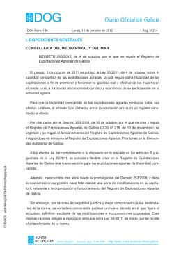 Decreto 200/2012 - Medio Rural