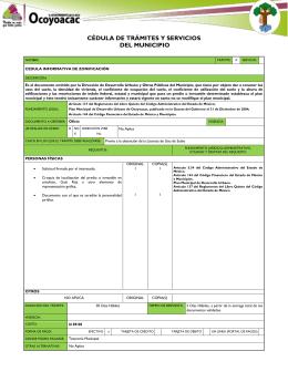 cédula informativa de zonificación