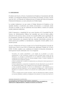0.- ANTECEDENTES El Gobierno de Navarra, el Excmo