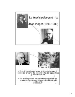 La teoría psicogenética Jean Piaget (1896