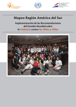Mapeo Región América del Sur - SRSG on Violence Against Children