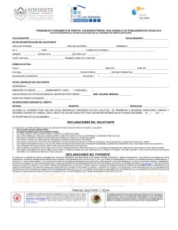 Formato para Créditos con Subsidio Fovissste - ceba-cedex