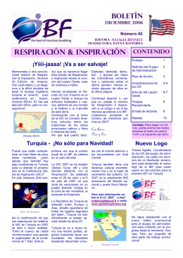 respiración & inspiración - International Breathwork Foundation