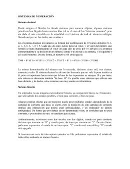 SISTEMAS DE NUMERACIÓN Sistema decimal Desde