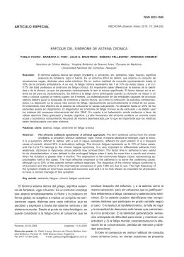 articulo especial enfoque del sindrome de astenia cronica