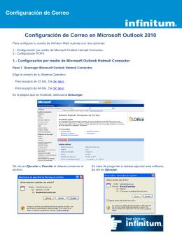 Configuración de Correo en Microsoft Outlook 2010