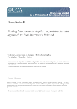 Wading into semantic depths : a poststructuralist approach to Toni