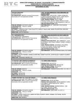 Septiembre 2005 - Dirección General de Radio, Televisión y