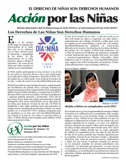 Acciónpor las Niñas - The Working Group on Girls